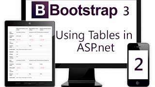Using BootStrap 3 Table in ASP.NET - Part 2
