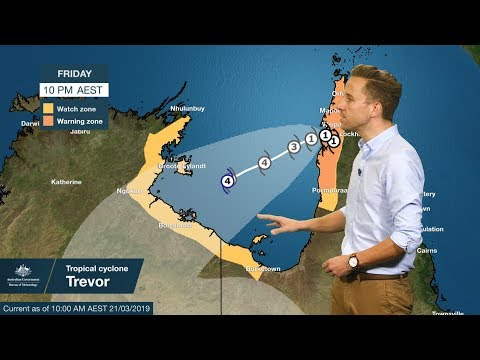 WEATHER UPDATE: tropical cyclone Trevor rapidly intensifying, 21 March 2019