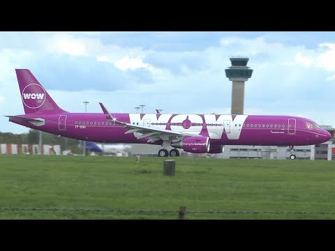 Wow Air wowair Inaugural Flight London Stansted Airport First Flight Iceland Planespotting
