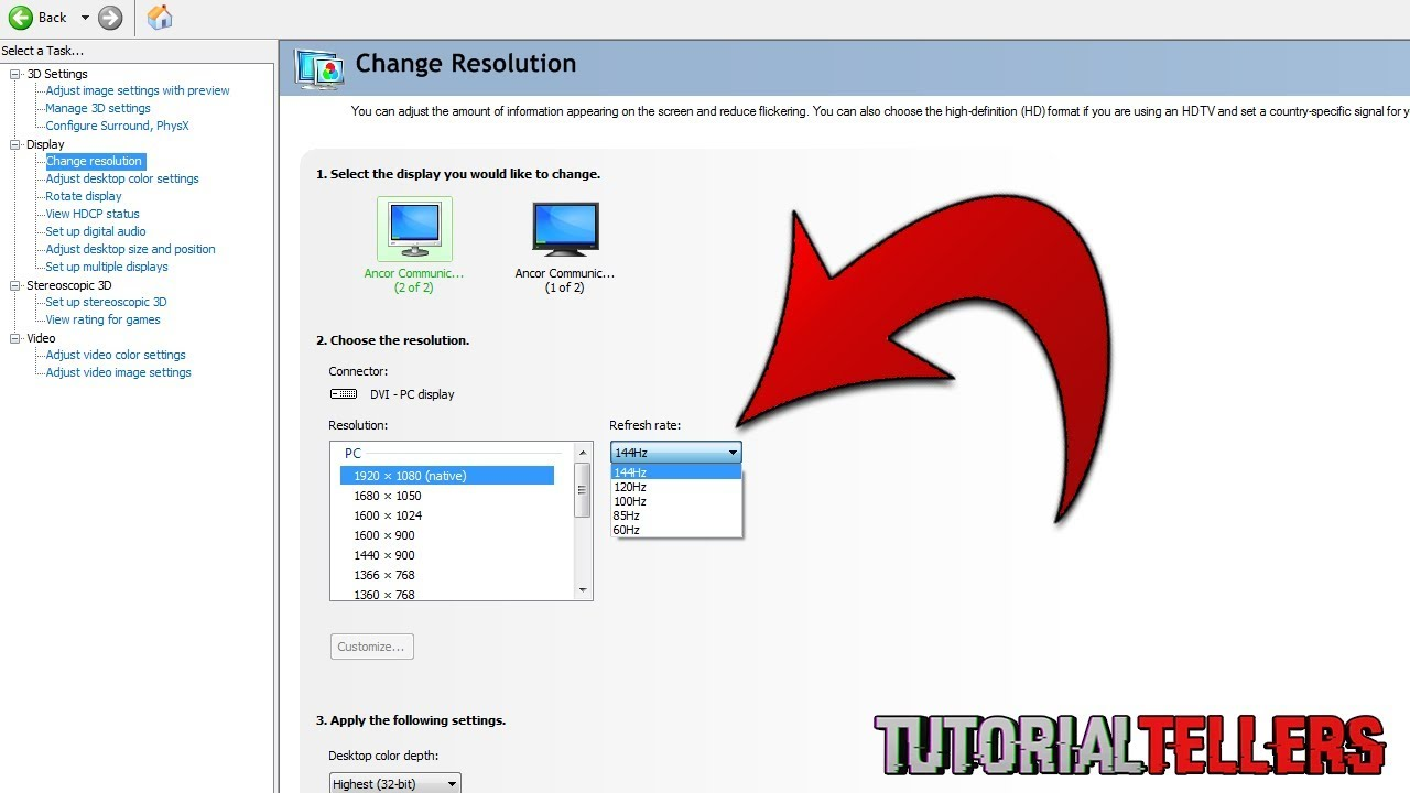 How to Enable 144 Hz Refresh Rate On ASUS VG248QE