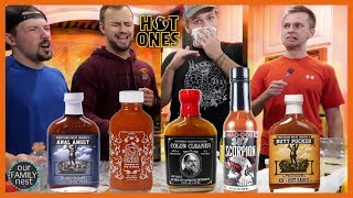 How SPICY are HOT ONES Wings? Trying HOT ONES Sauces!