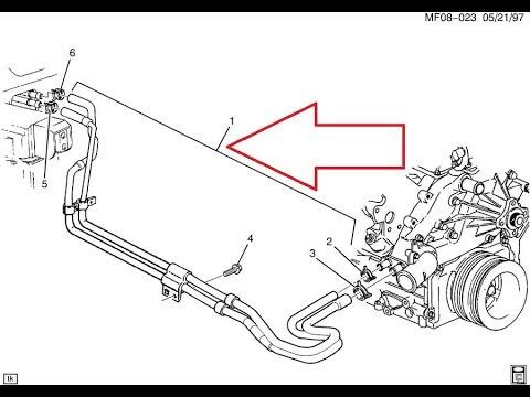 98-02 Camaro V8 LS1 Heater Hose/ 98-02 Camaro V8 LS1