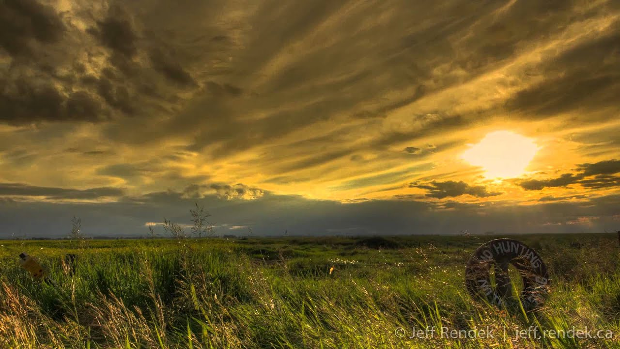 country landscape sunset - hdr