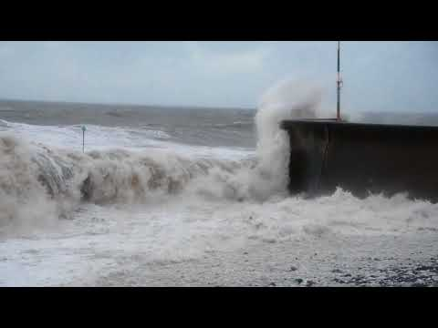 Storm Eleanor comes to Aberaeron