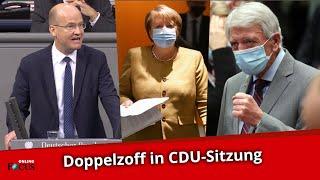 CDU-Zoff: Erst meckert Kanzlerin Merkel, dann geht Bouffier auf Brinkhaus los
