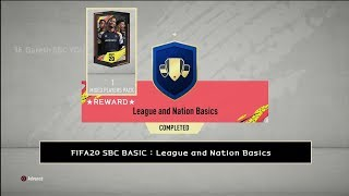 FIFA20 SBC BASIC : League and Nation Basics