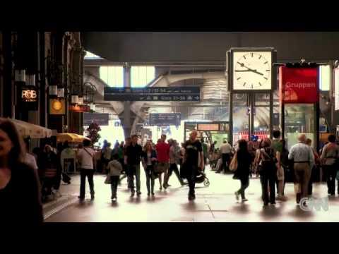 CNN Report - Zürich RailCity ShopVille - André Joe Coiffure - Becky Anderson