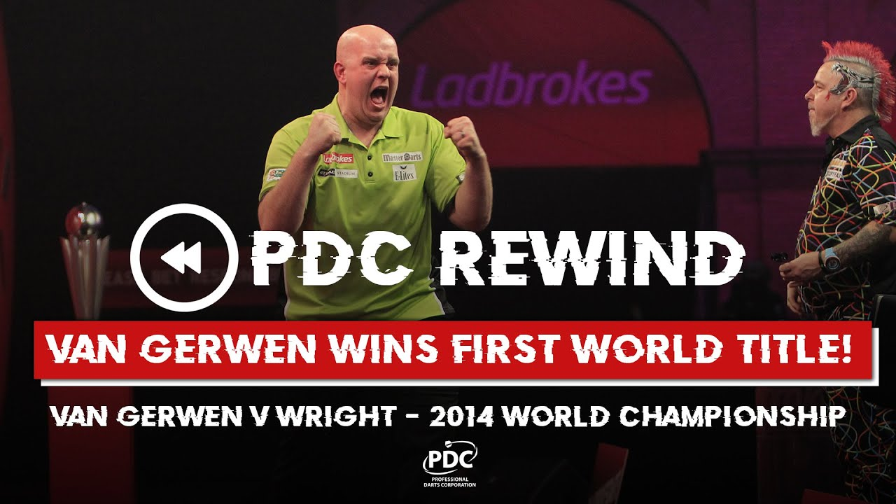 MVG's FIRST WORLD TITLE! Van Gerwen v Wright | 2014 World Championship Final
