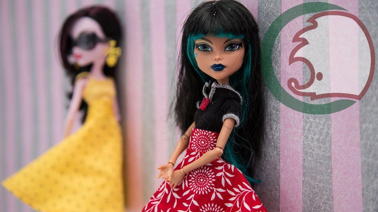 Как сделать для куклы юбку и платье
