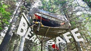 Bear Safe Hammocking In Grizzly Territory Day 21 of 30 Day Survival Challenge Canadian Rockies