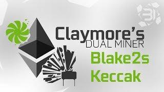 Claymore's Miner DUAL Mining ETH + Blake2S & Keccak Algorithm Guide