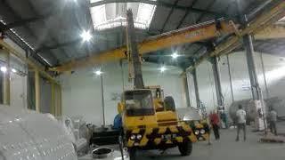 detik detik pemasangan crane