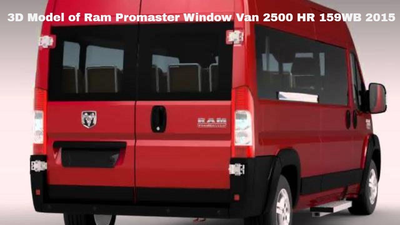3d Model Of Ram Promaster Window Van 2500 Hr 159wb 2015