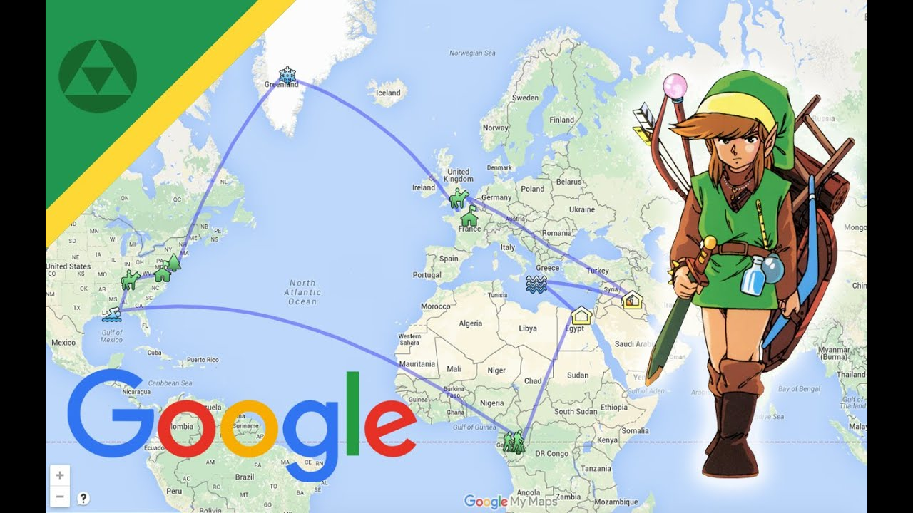 Zelda World Map On Google Youtube