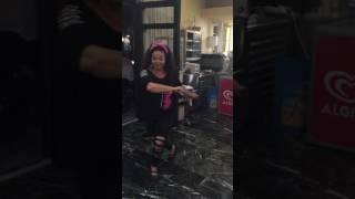 Dr. Sule Tokmakcioglu is dancing Greek Zeibekiko in Molivos, Lesvos, Greece