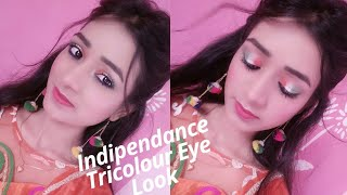 Indipendance day|| Tricolour Eye Makeup|| Inspired Indian flag #BBtributeof71YOI
