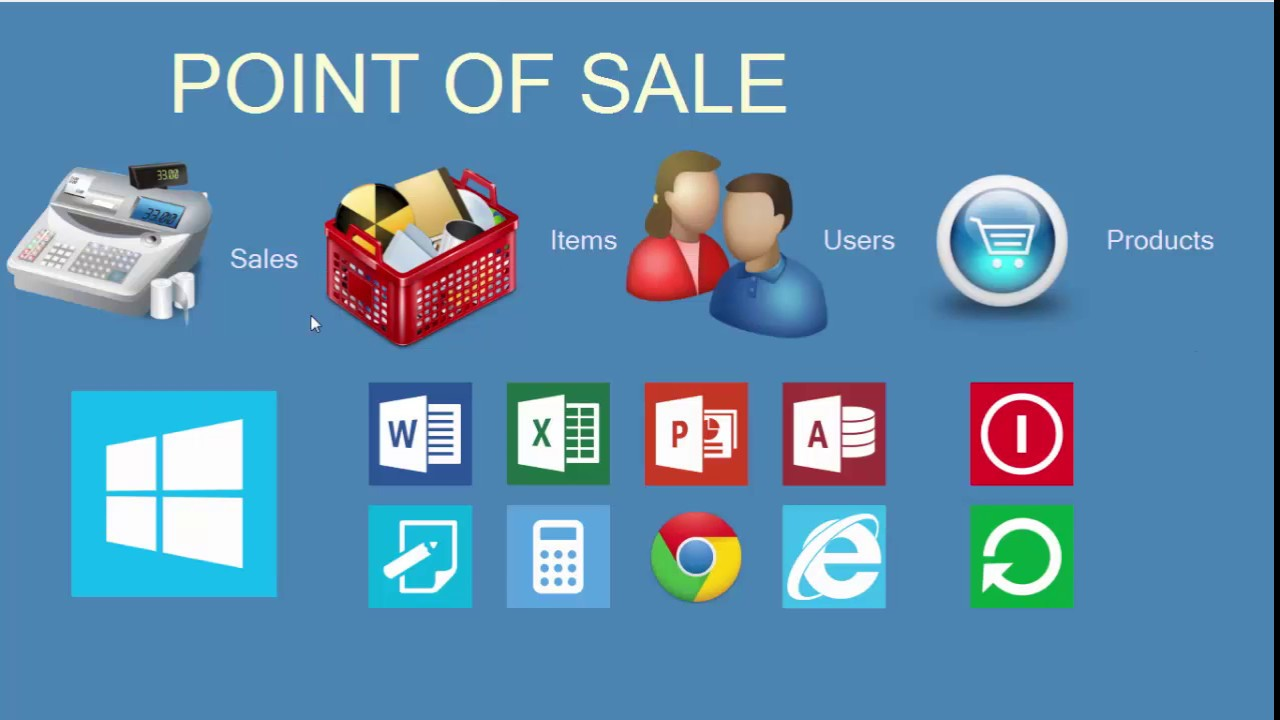 point of sale system abstract The point of sale (pos) or point of purchase a retail point of sale system typically includes a cash register (which in recent times comprises a computer.