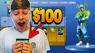 Kid Buys $100 of vBucks For Season 7 Battle Pass in Fortnite...