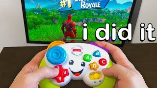 I Played Fortnite on a Controller FOR KIDS and WON
