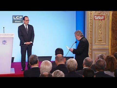Voeux de François Hollande au Corps Diplomatique - EVENEMENT (16/01/2015)