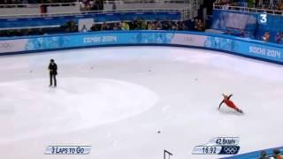 Une finale du 500m short track marquée par les chutes - JO Sotchi 2014
