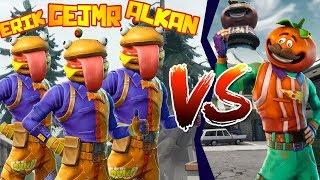 Minihra 🍔 BURGER Team vs 🍕 PIZZA Team [Fortnite]