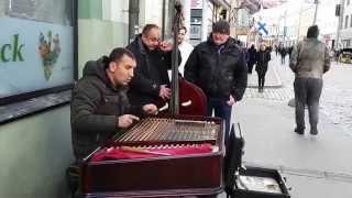 Cimbalom Player on the streets of Tallinn Old Town