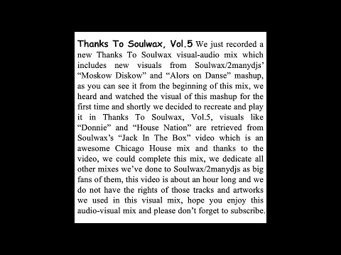Thanks To Soulwax, Vol. 5