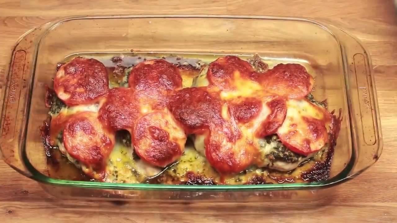 Receta de pechugas de pollo al horno con pesto de albahaca - Pechugas de pollo al horno ...