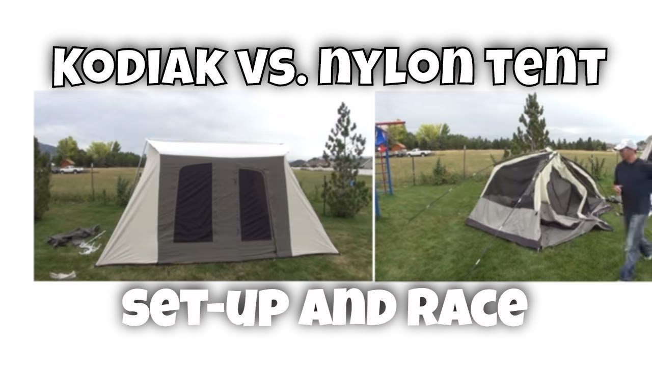 Kodiak Canvas Set Up Time vs Nylon Tents  sc 1 st  YouTube & Kodiak Canvas Set Up Time vs Nylon Tents - YouTube