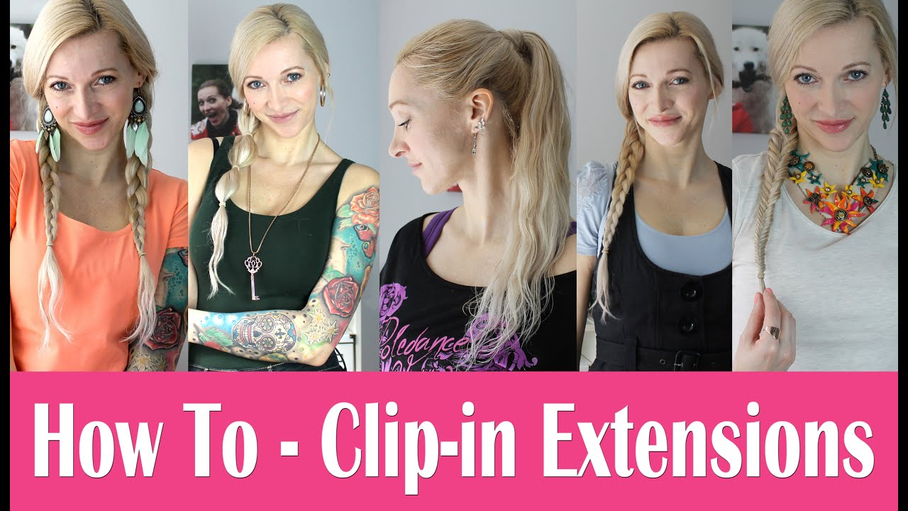 Frisuren extensions clip