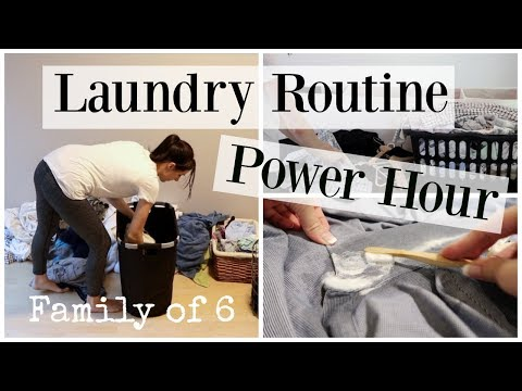 Speed Cleaning Power Hour Laundry Routine - Stay At Home Mom ♡ NaturallyThriftyMom