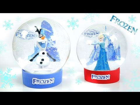 DIY Glow Frozen Snowball ! Olaf Elsa Snow Globe | MonsterKids