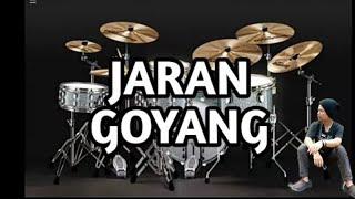 Jaran Goyang Versi Drum Virtual - Virtual drumming 2017 @joepranatapurba