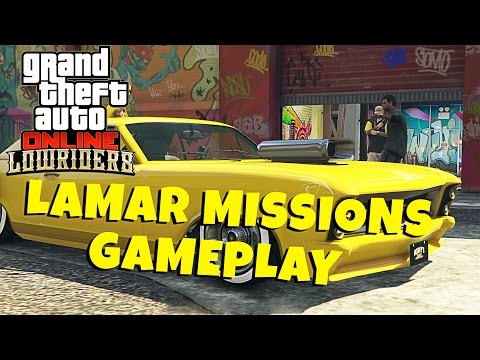LAMAR DAVIS MISSIONS WITH A TWIST - GTA 5 Online Lowriders Gameplay / Lets Play