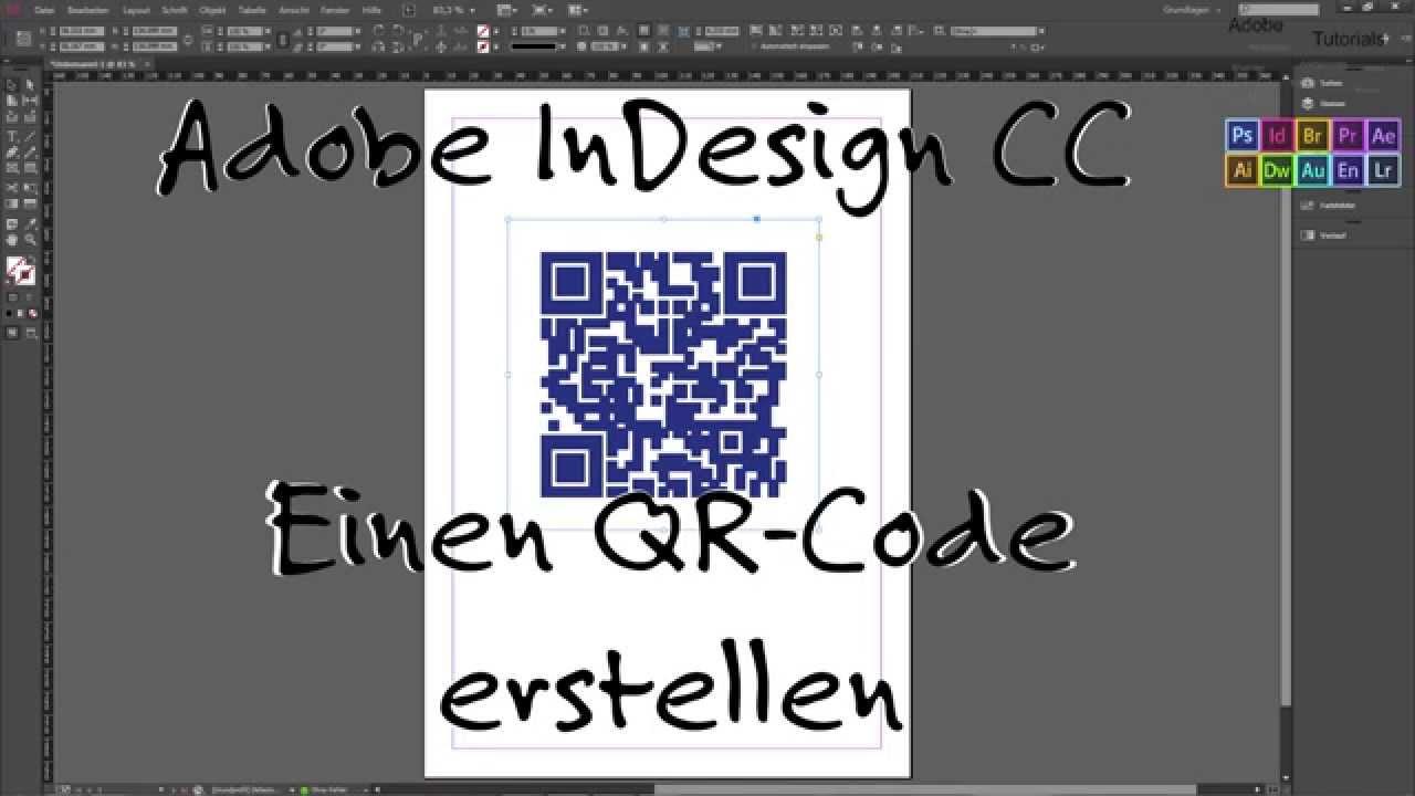 InDesign #1 Einen QR Code erstellen [German | Deutsch ...