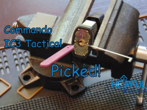 [58] Commando IC3 Tactical with Shackle Guard Picked! (You Must Pick It Twice To Open)