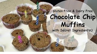Gluten Free & Dairy Free Chocolate Chip Muffins | Mrsloveaboveall