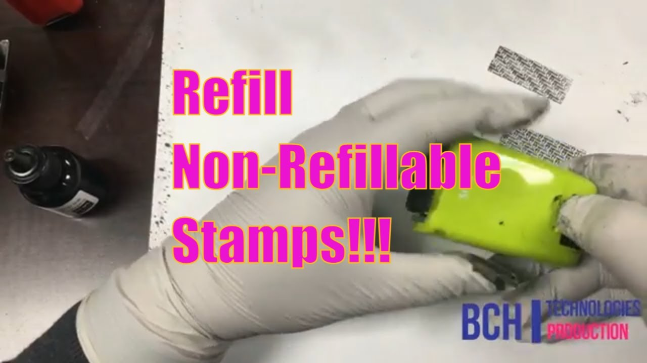 How To Refill Plus Guard Your ID Roller Stamp