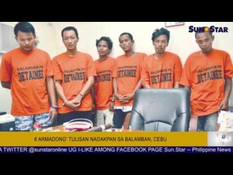 6 armadong' tulisan nadakpan sa Balamban, Cebu
