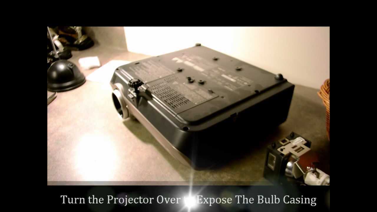 How to change a Projector Lamp or Projector Bulb - Replacement Lamps