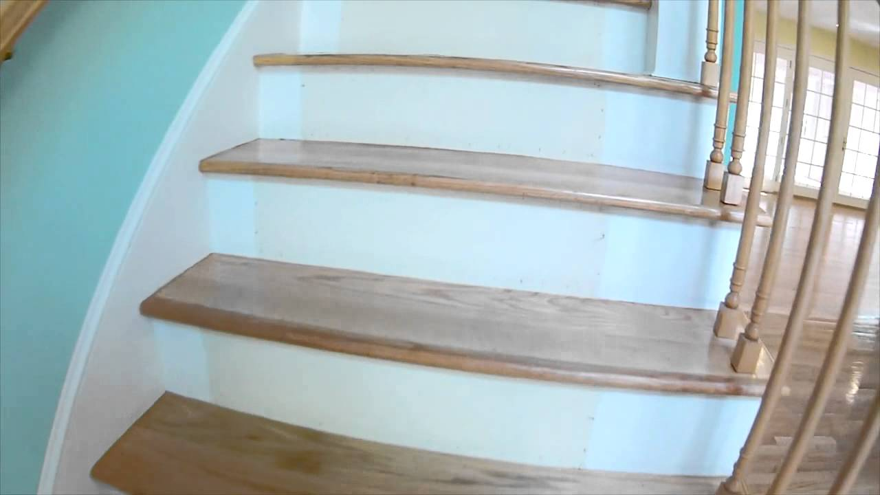 Wood Stair Sanding And Refinishing By Wood Floors By Ace
