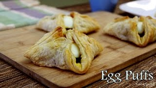 Egg Puffs Pastry Recipe - Puff Pastry Recipe - Indian Tea Snacks recipes  Puff Pastry Sheet Recipe