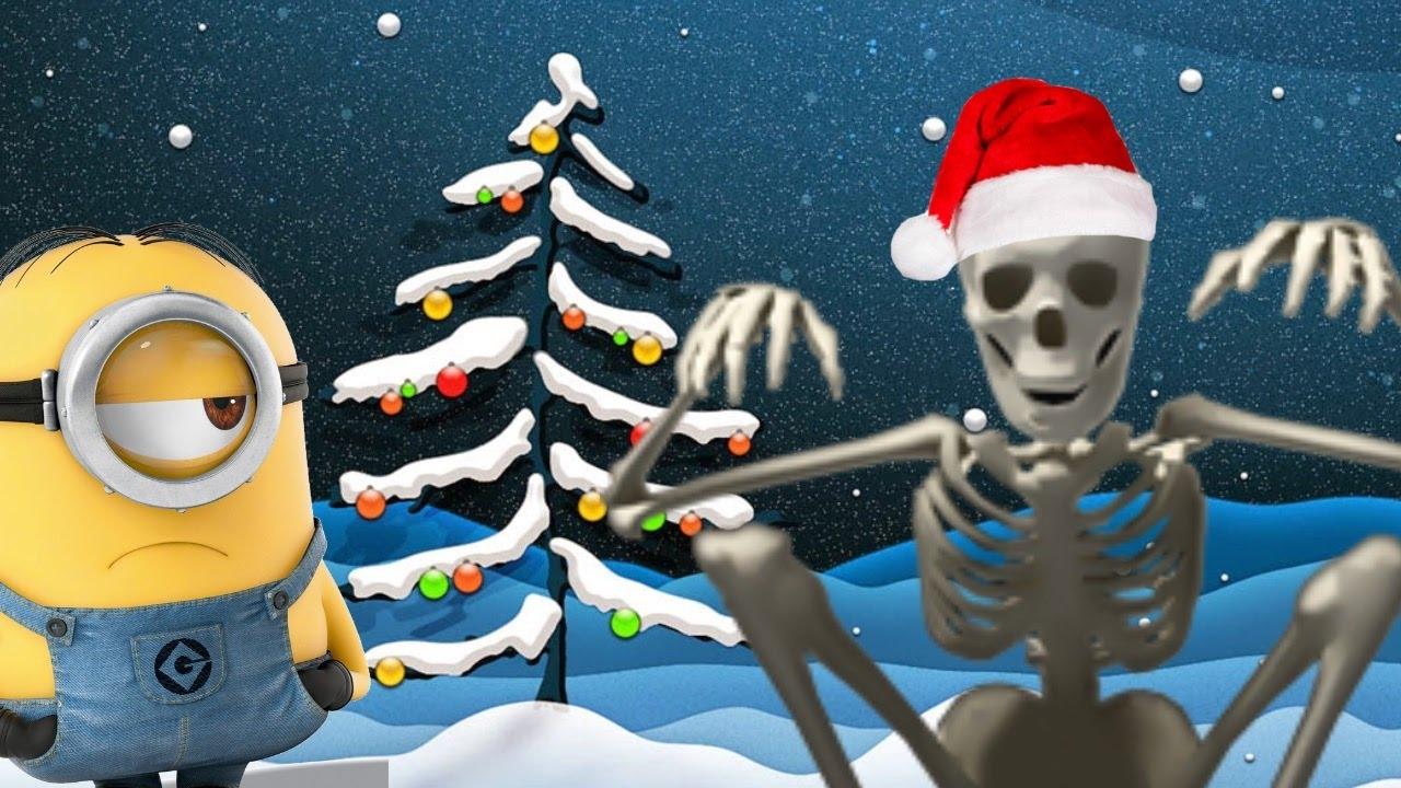 Christmas Skeleton.Scary Christmas Despicable Me 3 Minions Funny Cartoon Jingle Bells W Skeleton Mini Movie For Kids