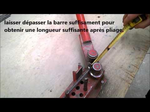 Utiliser une cintreuse manuelle youtube - Cintreuse fer a beton ...