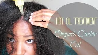 How to | Hot Oil Treatment for Extreme Hair Growth using Organic Castor Oil