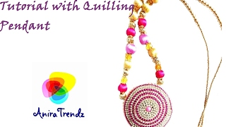 Silk Thread Necklace Grand Quilling Pendent Part Wear - Simple Easy