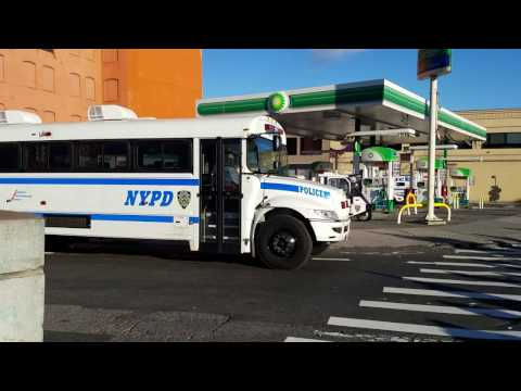 NYPD Patrol Borough Bronx Transport Bus Mobilized For The TCS NYC Marathon In The Bronx