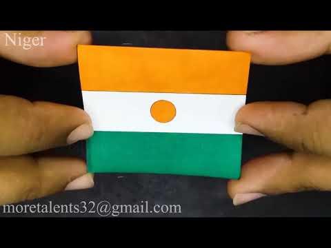 Draw Niger Flag Drapeau du Niger while Anthem National Hymne