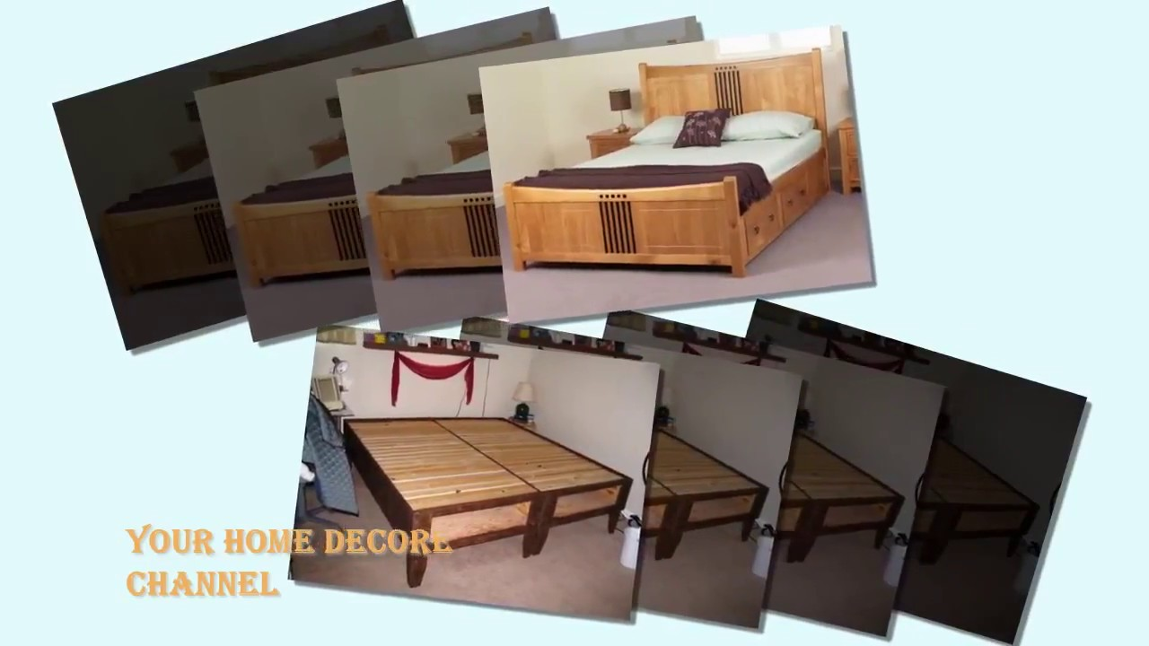 how to make a king size bed frame with storage